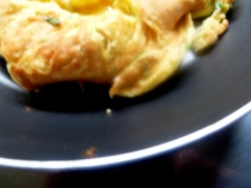 A failed attempt on French omelette. But still tasty